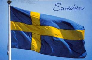 Postcards of Nations: Sweden flag