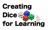 Teacher Mama: Creating Your Own Dice for Learning - Boy ...