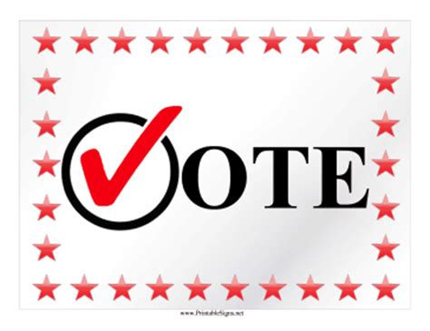 Printable Vote Campaign Sign Sign