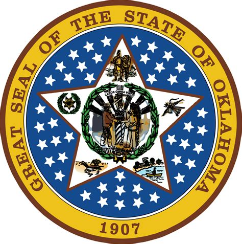 Oklahoma: Flags - Emblems - Symbols - Outline Maps