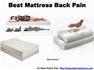 Best mattress back pain mumbai, india