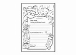 Letter To Santa Template Black And White | New Calendar Template Site