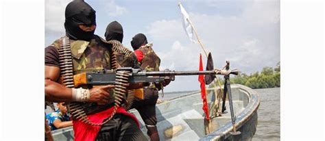 Former militants from the Justice Camp in the Niger Delta ...