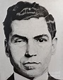 Lucky Luciano Drawing by Jeff Ridlen