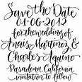 Handwritten Calligraphy Fonts May 2011 ella johnston loves