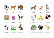 Here we offer a mindmap in the theme farm animals for preschoolers.
