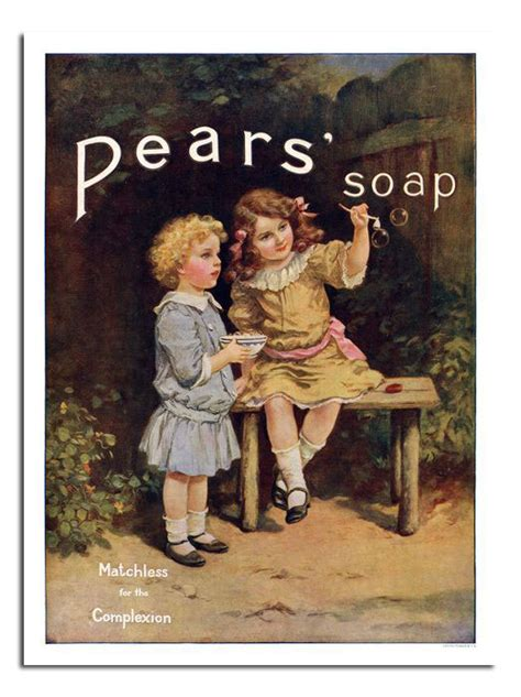 Pears Soap Bubbles Retro Vintage Advert Poster Print New ...