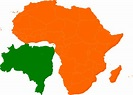 Africa Brazil Map Clip Art at Clker.com - vector clip art ...