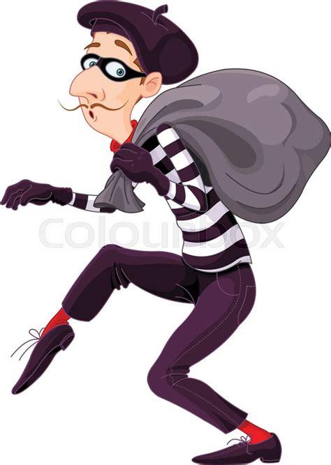 Illustration of very cute burglar | Stock Vector | Colourbox