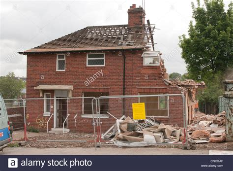 The demolition of council houses on the Wybourn estate ...