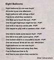 Eight Balloons Poem by Shel Silverstein - Poem Hunter