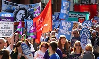 50,000 people march in Manchester against NHS cuts | UK ...