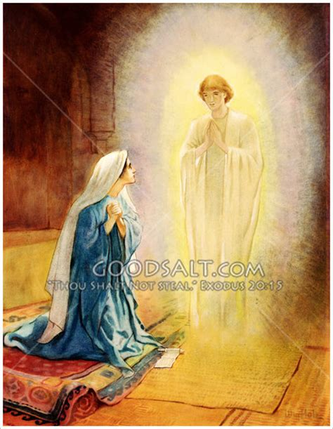 The Angel Gabriel Hails the Virgin Mary