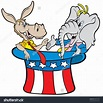 Clipart donkey elephant republican democrat animated ...