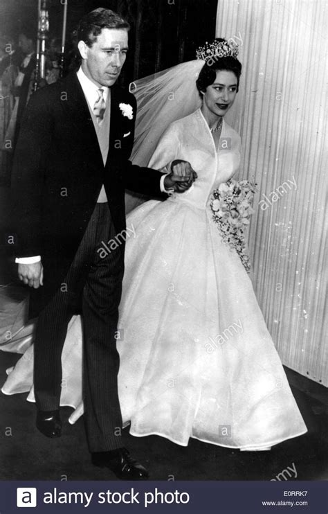 Princess Margaret and Earl of Snowdon wed Stock Photo ...