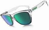 Oakley Frogskins sunglasses polished clear green