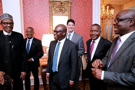 President Buhari, Dangote, Wale Tinubu Meet Top US Companies ...