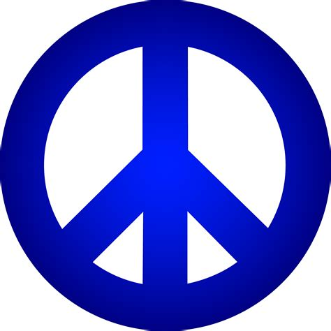Blue Peace Sign - Free Clip Art