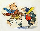 The Wind in the Willows: Rat and Mole on the way to Badger ...