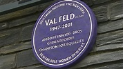 First purple plaque to honour late AM Val Feld - BBC News