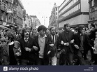 Protesters at anti-Vietnam war rally London 1968 Stock ...