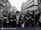 Protesters at anti-Vietnam war rally London 1968 Stock ...