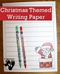 Free Christmas Themed Writing Paper | Free Homeschool Deals