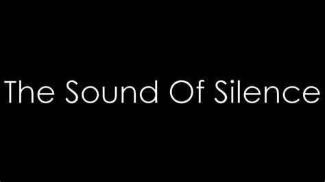 The Sound Of Silence - Disturbed ( lyrics ) - YouTube