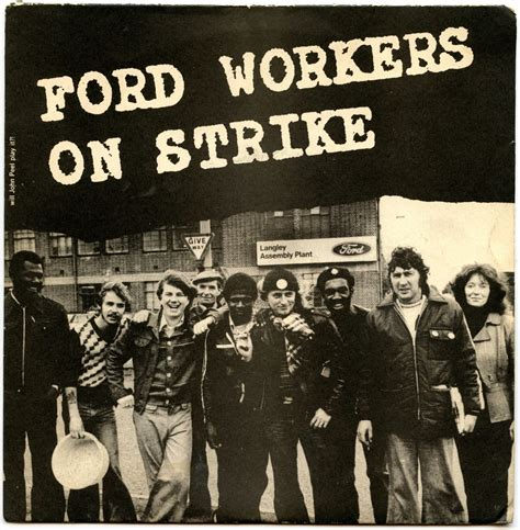 Ford workers on strike