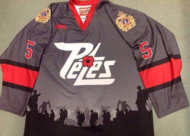 CHL teams' Remembrance Day jerseys honour veterans and military personnel's endless sacrifices