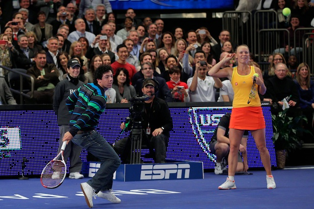 Caroline Wozniacki calls on boyfriend Rory McIlroy to play against Maria Sharapova