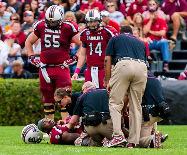 """Marcus Lattimore says at NFL combine doctors will be """"shocked"""" at recovery from ugly college injury"""