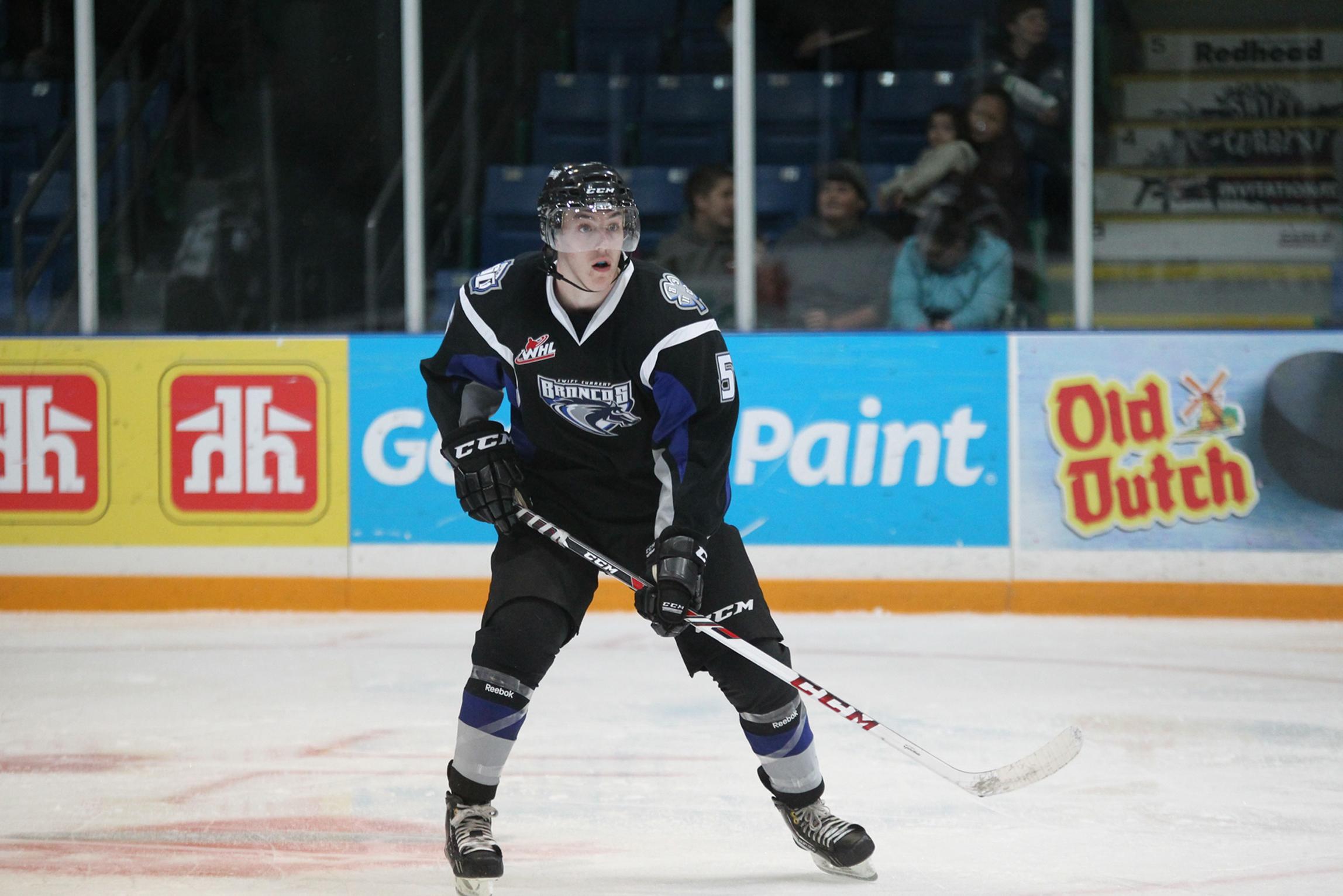 NHL draft tracker: Brycen Martin, Swift Current Broncos