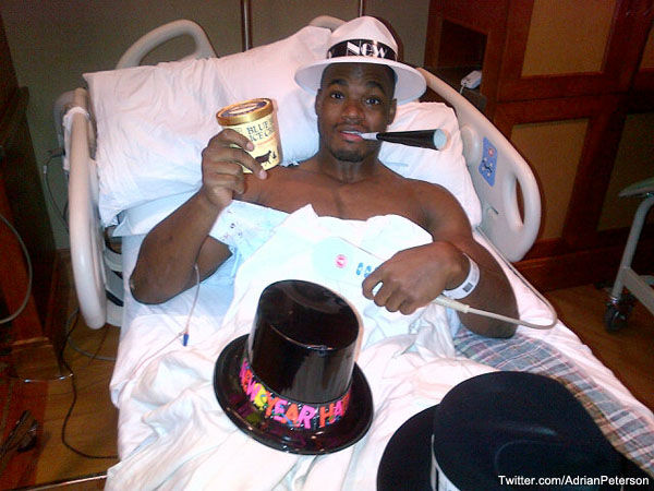Photo: How Adrian Peterson rang in the New Year