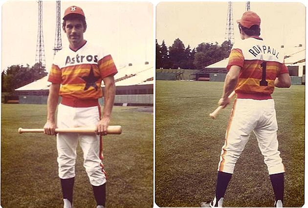 Ron Paul stars in Astros rainbow uniform at '76 Congressional ballgame