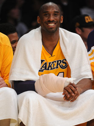 Kobe Bryant is taking pregame injections to his wrist just to be able to play