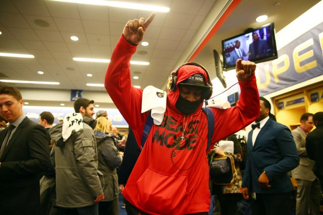 Marshawn Lynch naturally keeps his postgame comments brief in victory