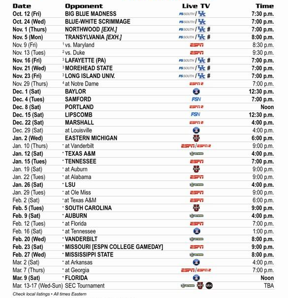 Full UK basketball schedule announced with times and TV listings