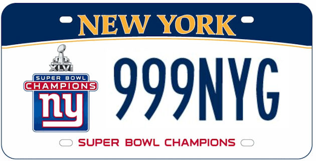 Giants to be honored with commemorative NY license plate; some would rather see a 9/11 plate