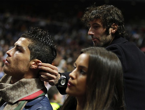 Esteban Granero tries to steal Cristiano Ronaldo's earring