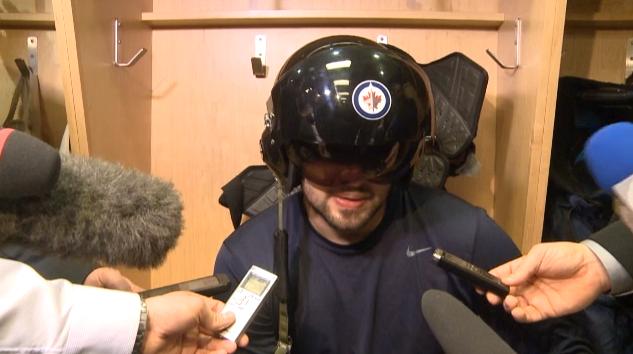 Winnipeg Jets fighter pilot helmet is newest NHL team post-game honor