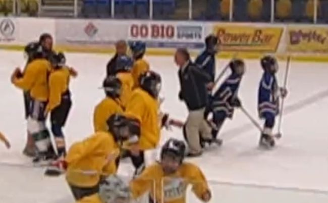 Assault charge pending for hockey coach who tripped teen players in handshake line (VIDEO)