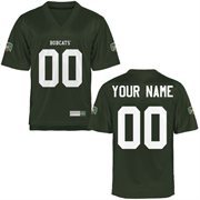Ohio Bobcats Personalized Football Name & Number Jersey - Green
