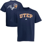 adidas UTEP Miners Relentless T-Shirt - Navy Blue