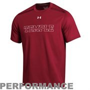 Under Armour Temple Owls Dominance Performance Tee - Red