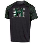Mens Hawaii Warriors Under Armour Black Ultimate Performance T-Shirt