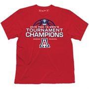 Men's Cardinal Arizona Wildcats 2015 Pac-12 Men's Basketball Conference Tournament Champions Locker Room T-Shirt