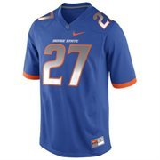 Nike Boise State Broncos #27 Youth Game Football Jersey - Royal Blue