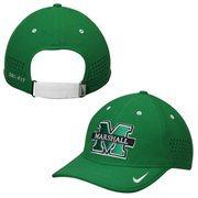 Men's Nike Green Marshall Thundering Herd Dri-FIT Sideline Coaches Adjustable Hat