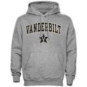 Mens Gray Vanderbilt Commodores Arch Over Logo Hoodie